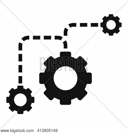 Restructuring Process Icon. Simple Illustration Of Restructuring Process Vector Icon For Web Design