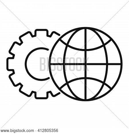 Global Restructuring Icon. Outline Global Restructuring Vector Icon For Web Design Isolated On White