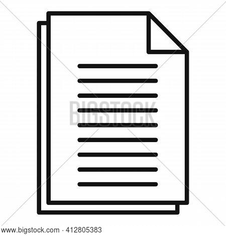 Restructuring Contract Icon. Outline Restructuring Contract Vector Icon For Web Design Isolated On W