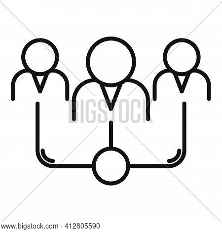Restructuring Team Icon. Outline Restructuring Team Vector Icon For Web Design Isolated On White Bac