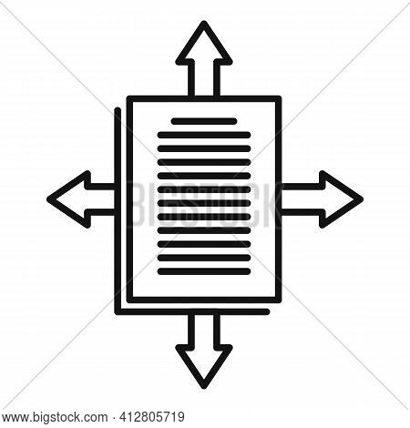 Page Restructuring Icon. Outline Page Restructuring Vector Icon For Web Design Isolated On White Bac