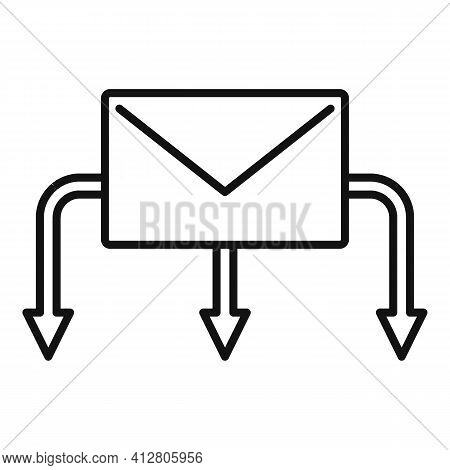 Restructuring Letter Icon. Outline Restructuring Letter Vector Icon For Web Design Isolated On White