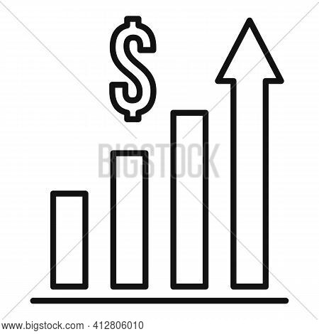 Restructuring Graph Chart Icon. Outline Restructuring Graph Chart Vector Icon For Web Design Isolate