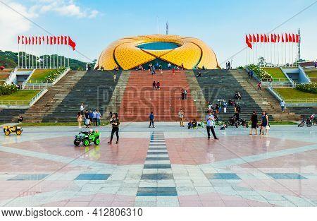 Dalat, Vietnam - March 12, 2018: Sunflower Building At Lam Vien Square In Dalat, Vietnam
