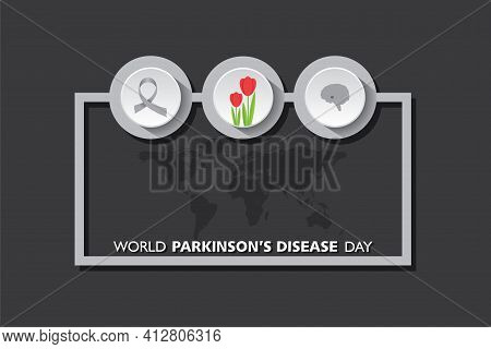 Vector Illustration Of World Parkinson's Disease Day Observed On 11th April Every Year