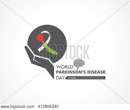Vector Illustration Of World Parkinson\'s Disease Day Observed On 11th April Every Year