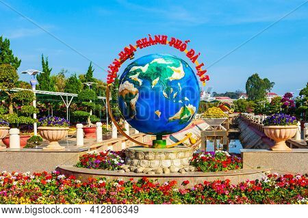 Dalat, Vietnam - March 13, 2018: Dalat Flower Garden Park In Da Lat City In Vietnam