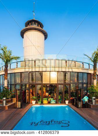 Nha Trang, Vietnam - March 14, 2018: Skylight Nha Trang Observation Deck In Premier Havana Hotel In