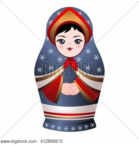 Nesting Doll Icon. Cartoon Of Nesting Doll Vector Icon For Web Design Isolated On White Background