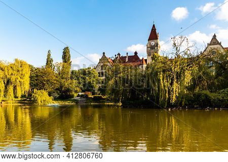 Wroclaw, Poland - May 26 2020: Beautiful View Of Faculty Of Architecture Of Wroclaw University Of Sc