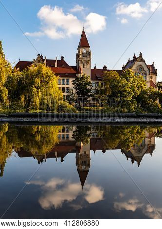 Wroclaw, Poland - May 26 2020: Facade Of The Faculty Of Architecture Of Wroclaw University Of Scienc