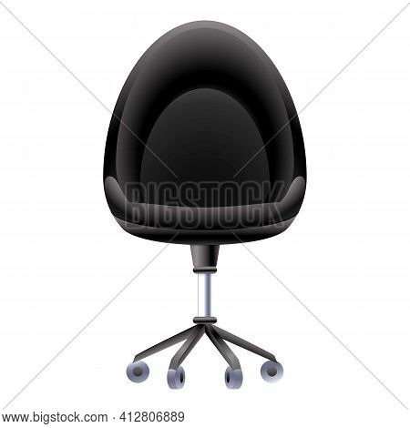 Leather Desk Chair Icon. Cartoon Of Leather Desk Chair Vector Icon For Web Design Isolated On White