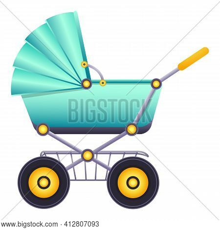 Baby Carriage Icon. Cartoon Of Baby Carriage Vector Icon For Web Design Isolated On White Background