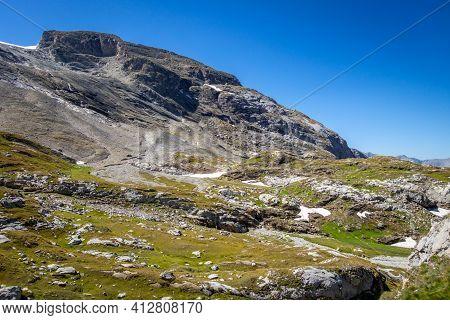 Mountain Landscape In Pralognan La Vanoise. French Alps