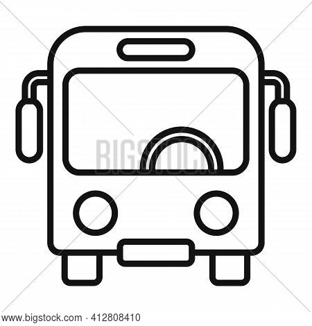 Trip Bus Icon. Outline Trip Bus Vector Icon For Web Design Isolated On White Background