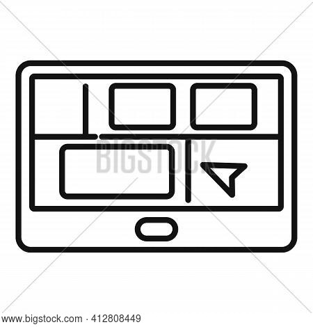 Booking Trip Icon. Outline Booking Trip Vector Icon For Web Design Isolated On White Background