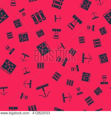 Set Railway, Railway, Railroad Track, Map And Train Conductor On Seamless Pattern. Vector
