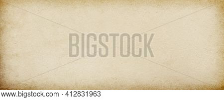 Old Blank Vintage Beige Paper With Vignette And Space For Text