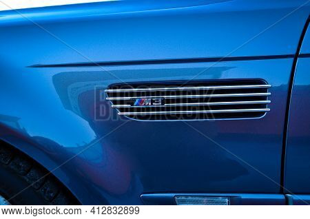 Old Bmw M3 Side View, Luxury Car In Istanbul City, October 06 2011 Pendik Istanbul Turkey Used Car M