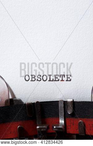 Obsolete word written with a typewriter.