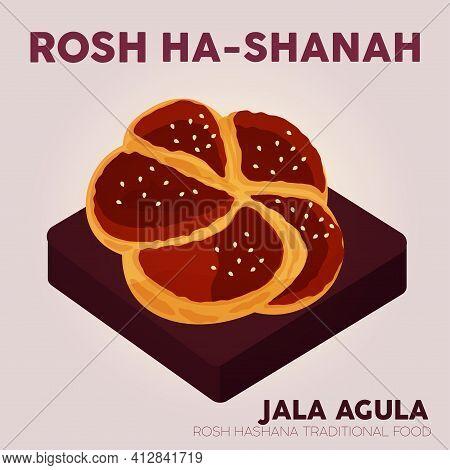 Rosh Hashana Jala Agula Judaism Wallpaper Image Icon - Vector