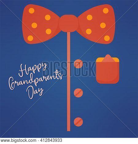 Bowtie Grandpa Day Granparents Day Image Icon- Vector
