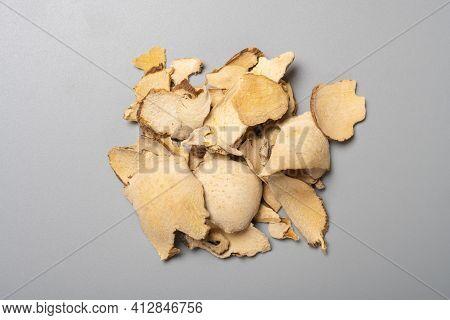 Top View Herb Fenpixie Or Dioscoreae Hypoglaucae Rhizoma Or Hypoglaucous Yam Rhizome