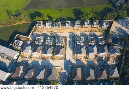 Housing Subdivision Or Housing Development. Also Call Tract Housing. Large Tract Of Land That Divide