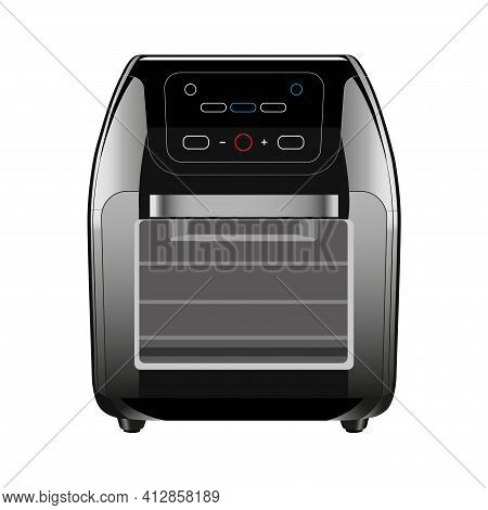 Air Fryer, Modern Kitchen Device. Stylish Kitchen Concept. Vector Illustration Isolated On White Bac
