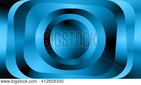Paradox Optic Illusion Illustration. Abstract Metallic Wave Background Design Template. Light Blue T