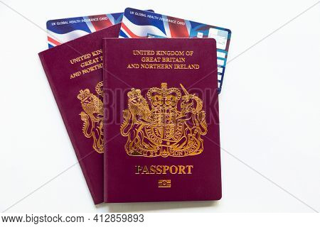 United Kingdom of Great Britain and Northern Ireland Passports and new Global Health Insurance Cards GHIC these replace the EHIC European Union card post Brexit