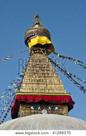 Boudhanath the biggest stupa in the world, Kathmandu, Nepal