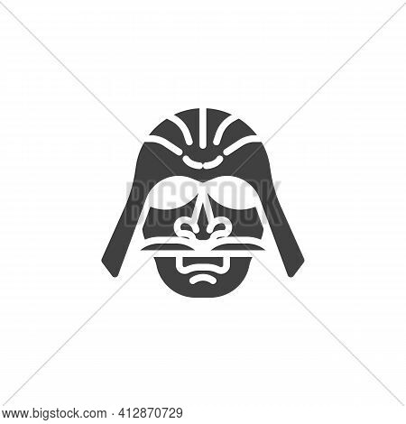 Japanese Warrior Vector Icon. Filled Flat Sign For Mobile Concept And Web Design. Samurai Warrior Ma