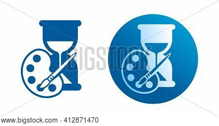 Long Casting Color Icon - Hair Dye Properties Pictogram For Coloring Chemicals Packaging