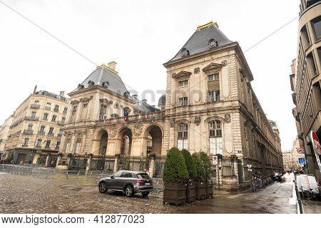 Lyon, France,april 7, 2019.the Famous Terreaux Square In Lyon City.