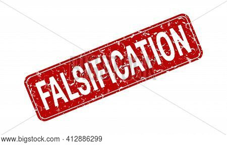 Falsification. An Impression Of A Seal Or Stamp With Scuffs. Grunge Style. Flat Design