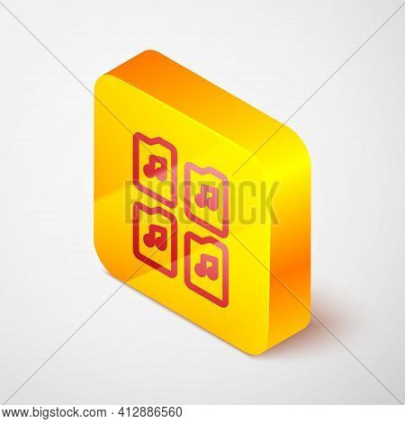 Isometric Line Music File Document Icon Isolated On Grey Background. Waveform Audio File Format For