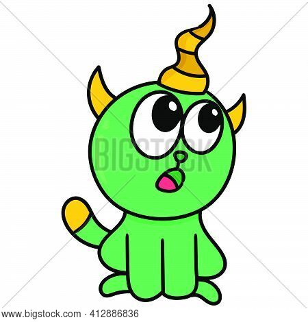 Cute Pet Kittens, Doodle Kawaii. Doodle Icon Image. Cartoon Caharacter Cute Doodle Draw