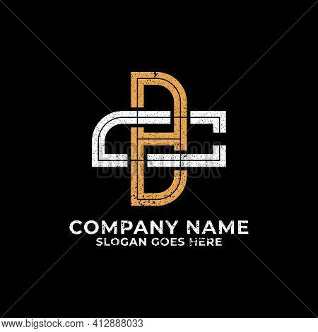 Monogram Bc Logo Design Vector, Initial Letter Bc, Cb Icon With Retro Vintage Rustic Style Template