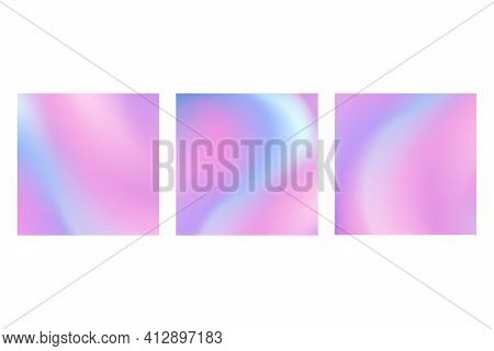 Collection Of Square Soft Gradients. Abstract Artistic Ombre Backgrounds
