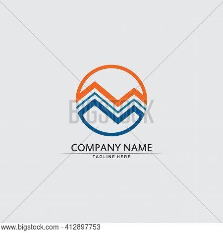 Mountain Icon Logo Template Vector Illustration Design M Logo, Outdoor Logo