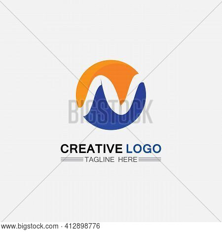 N Logo Font Company Logo Business And Letter Initial N Design Vector And Letter For Logo