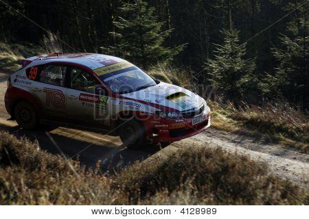 Subaru Impreza At Wales Rally Gb 2008