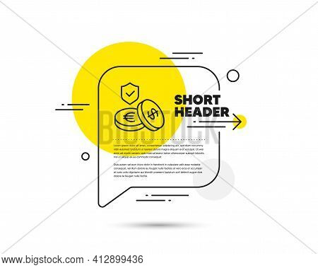 Savings Insurance Line Icon. Risk Coverage Sign. Vector