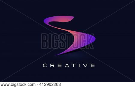 S Logo Design Vector With Creative Modern Design Shape And Vibrant Colors. S Icon Vector. S Letter D