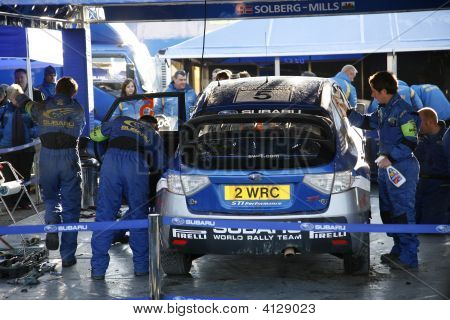 Subaru World Rally Team Garage
