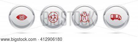 Set Line Reddish Eye Allergic Conjunctivitis, Man With Excessive Sweating, Parasite Mite And Emergen