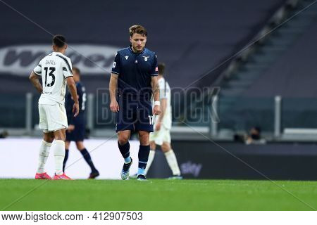 Torino, 06th March 2021. Ciro Immobile Of Ss Lazio  During The Serie A Match Between Juventus Fc And