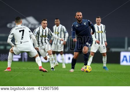 Torino, 06th March 2021. Vedat Muriqi Of Ss Lazio  During The Serie A Match Between Juventus Fc And