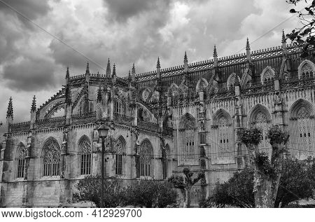 The Monastery Of Batalha Is A Dominican Convent In The Municipality Of Batalha, In The District Of L